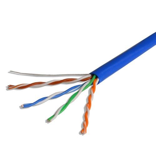 Cable UTP Cat 5e 24AWG Ghia 4 pares color azul (GCB-002)
